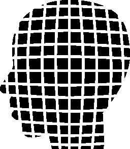無料のアイコンを小さな正方形の男性の頭の形