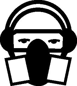 保護マスク無料アイコン