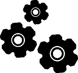 設定 3 歯車インタ フェース シンボル無料アイコン