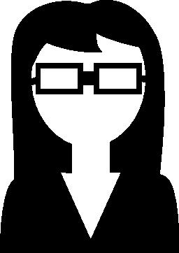女性科学眼鏡無料アイコンと専門家