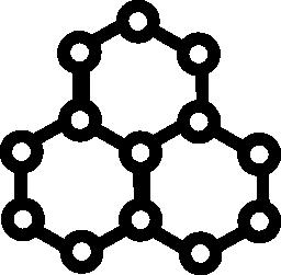 分子の六角形の形状の無料のアイコン