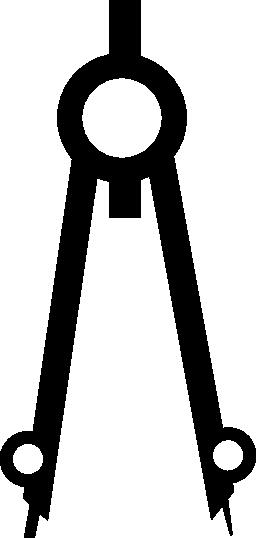 図面コンパス ツール無料アイコン