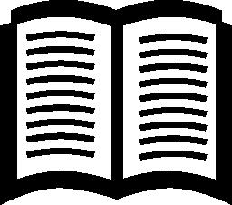 本を開いたシンボル無料アイコン