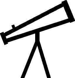 望遠鏡の無料アイコン