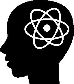 男ヘッド無料アイコンの原子記号