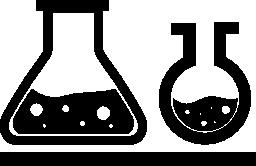 無料のアイコンの中の液体をさまざまな形のフラスコのカップル