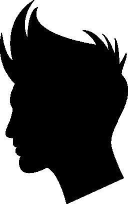 少年の髪図形無料アイコン