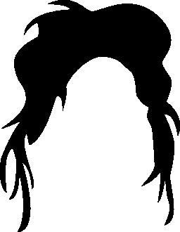 暗い髪の不規則な形状の無料アイコン