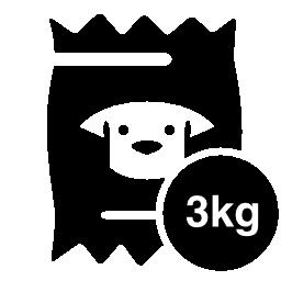 3 kg 犬食品袋無料アイコン