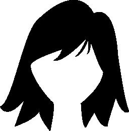 女性のショートヘア図形無料アイコン