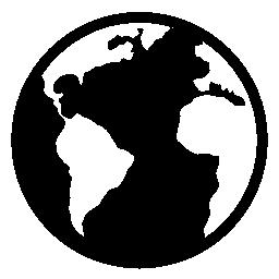地球惑星形状無料アイコン
