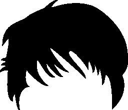 短い黒い髪図形無料アイコン