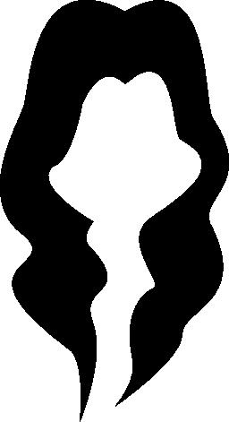 黒い長い髪雌性図形無料アイコン