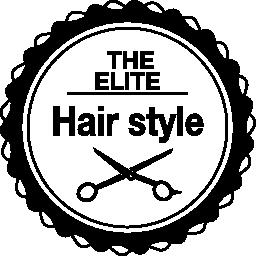 髪サロン商業円形シンボル無料アイコン