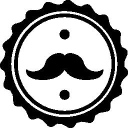 口ひげの髪サロン シンボル無料アイコン