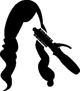 女性の長い髪や髪カーラー無料アイコン