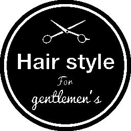 無料のアイコンを円形の商業の髪サロン シンボル
