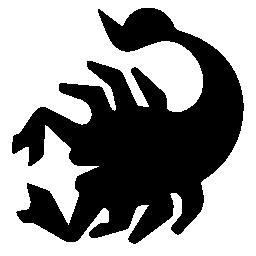 蠍座黒い図形シンボル無料アイコン