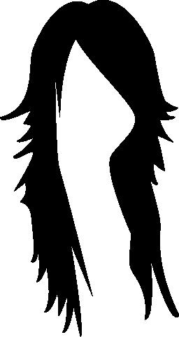 暗くて長い髪雌性図形無料アイコン