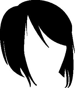短い髪図形無料アイコン