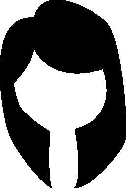 女性の黒い髪の無料のアイコン