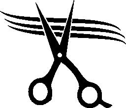 はさみ切削髪無料アイコン