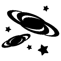 銀河のクラスターの無料のアイコン
