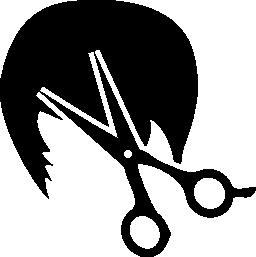 短い髪とはさみ無料アイコン