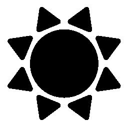 太陽黒い図形バリアント無料アイコン