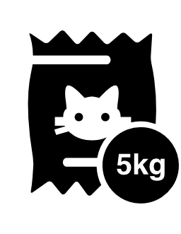 5 kg の猫食品袋無料アイコン