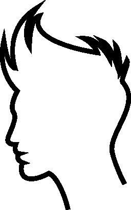 少年の髪概要無料アイコン