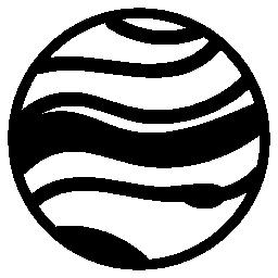 ストライプ惑星無料アイコン