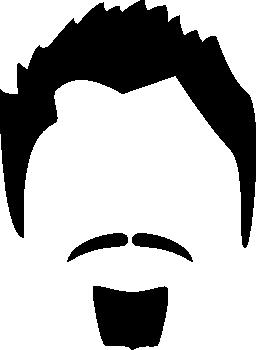 ヘッドの男性毛髪無料アイコン