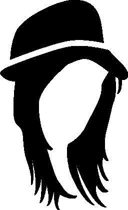 帽子の無料アイコンの髪