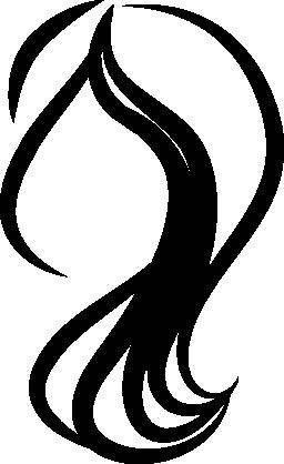 女性の毛の無料アイコン
