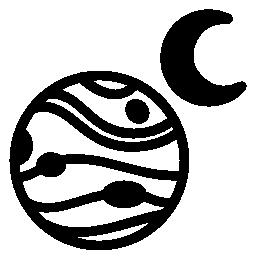 1 つの月フリーのアイコンと惑星