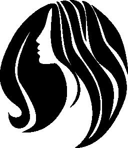 長い髪の無料のアイコンを持つ女性