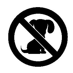 犬 probibited 信号無料アイコン