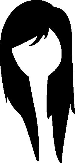 長い若い女性髪無料アイコン