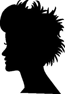 短い髪の無料のアイコンと頭のシルエット