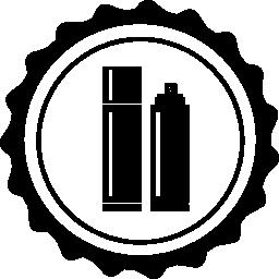 サークル無料アイコンの髪のボトル
