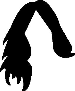 暗い女性髪図形無料アイコン