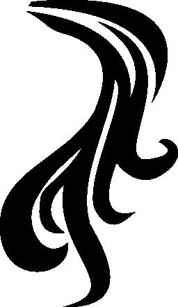 ポニーテールの髪の無料のアイコン