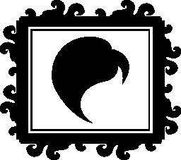 ミラー無料アイコンの髪