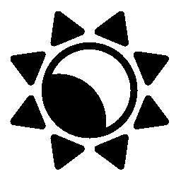 太陽と月の無料アイコン