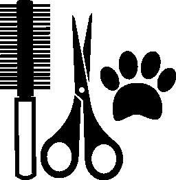 ペットの髪サロン ツール キット無料アイコン