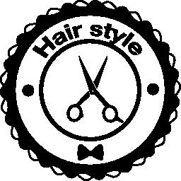 髪シザー無料アイコン スタイル信号円