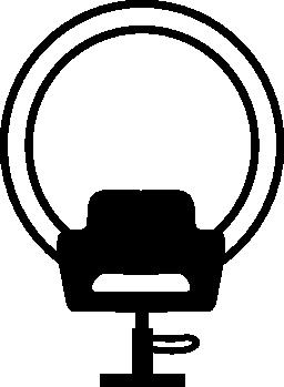 椅子と髪サロン無料アイコンのミラー