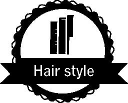 髪スタイルのバッジを櫛無料アイコン