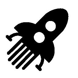 ロケット旅行無料アイコン